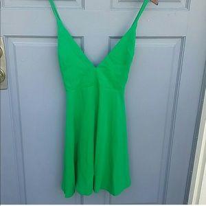 F21 Emerald Green Skater Dress